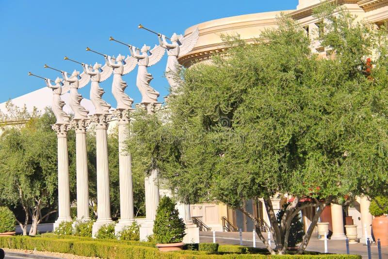 天使雕象在凯撒宫中在拉斯维加斯 图库摄影