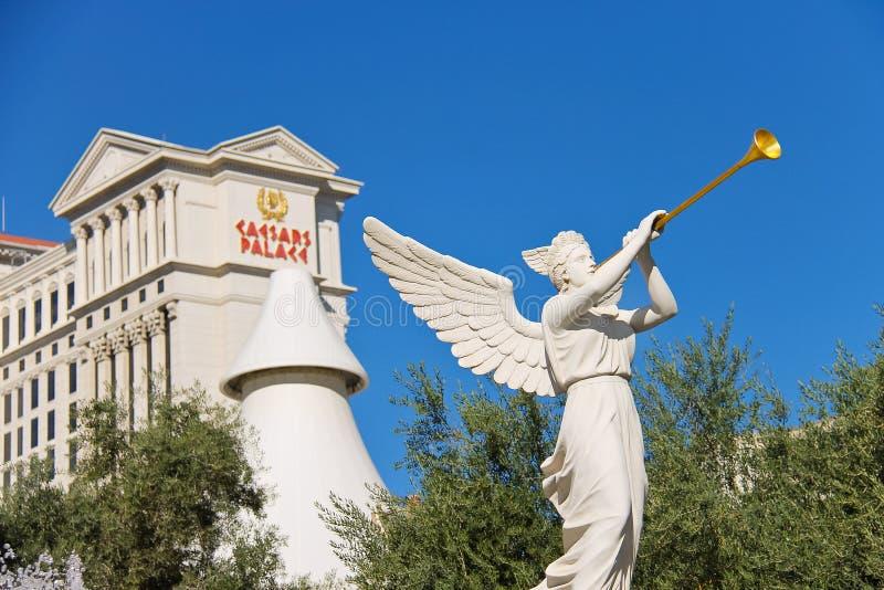 天使雕象在凯撒宫中在拉斯维加斯 免版税图库摄影