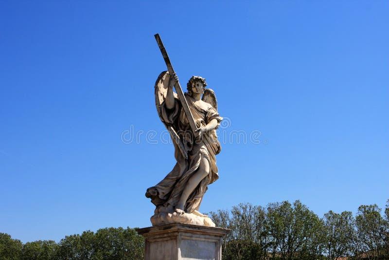 天使雕象在圣天使城堡,Rome3的 免版税库存照片
