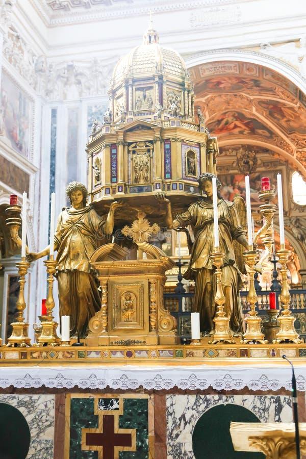 天使雕象,梵蒂冈 免版税图库摄影