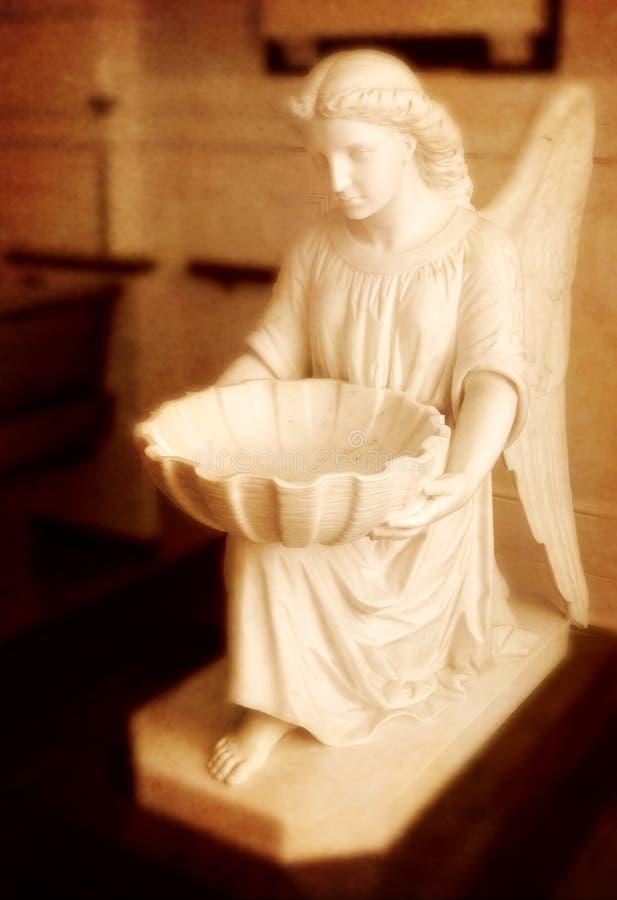 天使雕象 库存照片