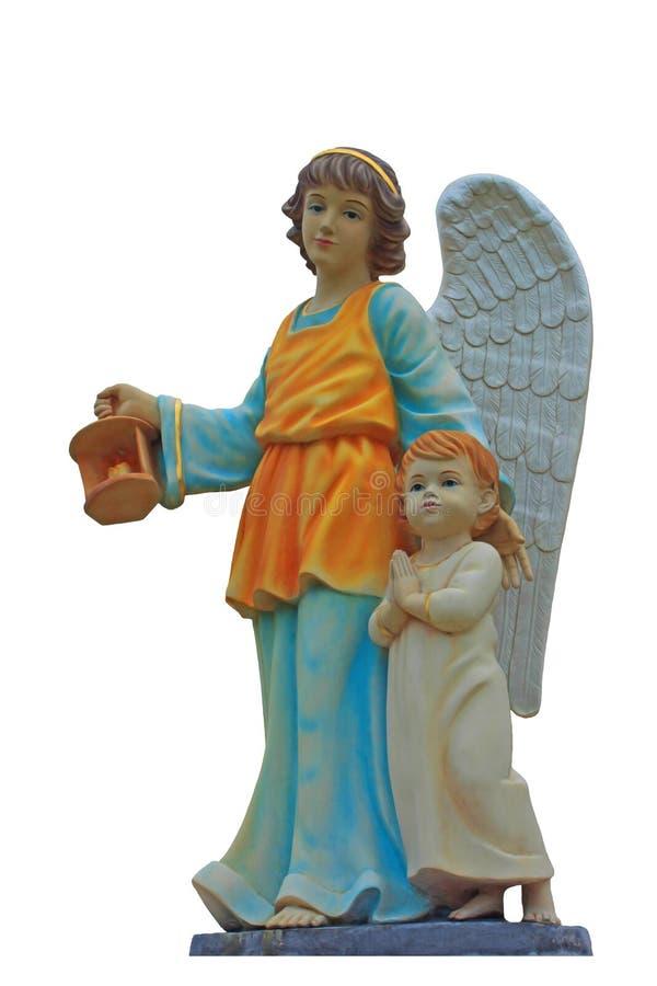 天使雕象  免版税库存照片