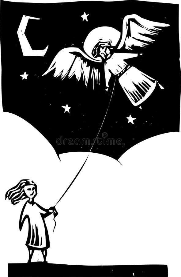 天使风筝 皇族释放例证