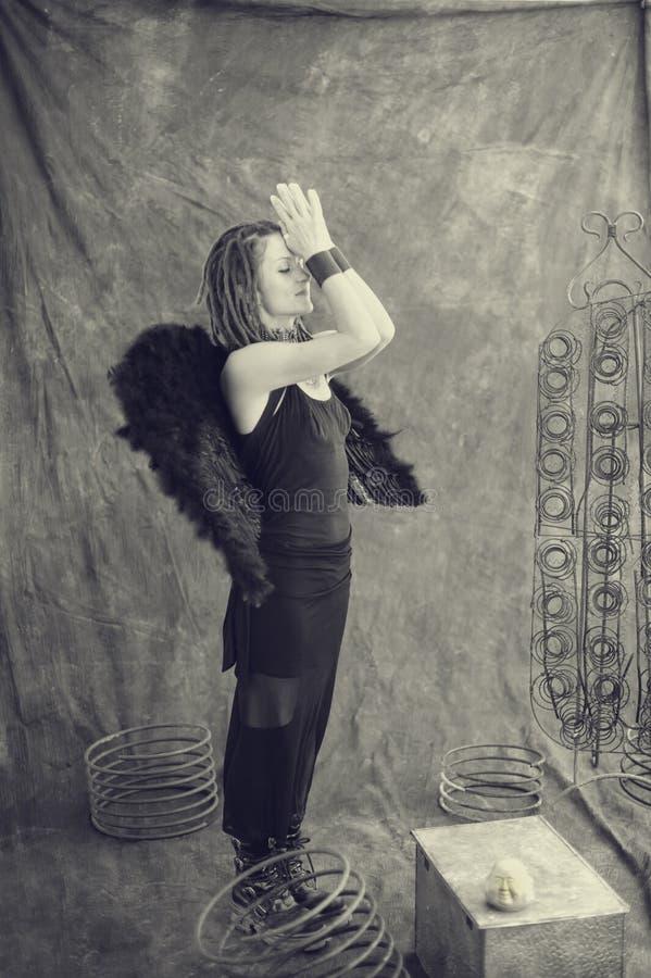 天使黑暗 免版税库存图片