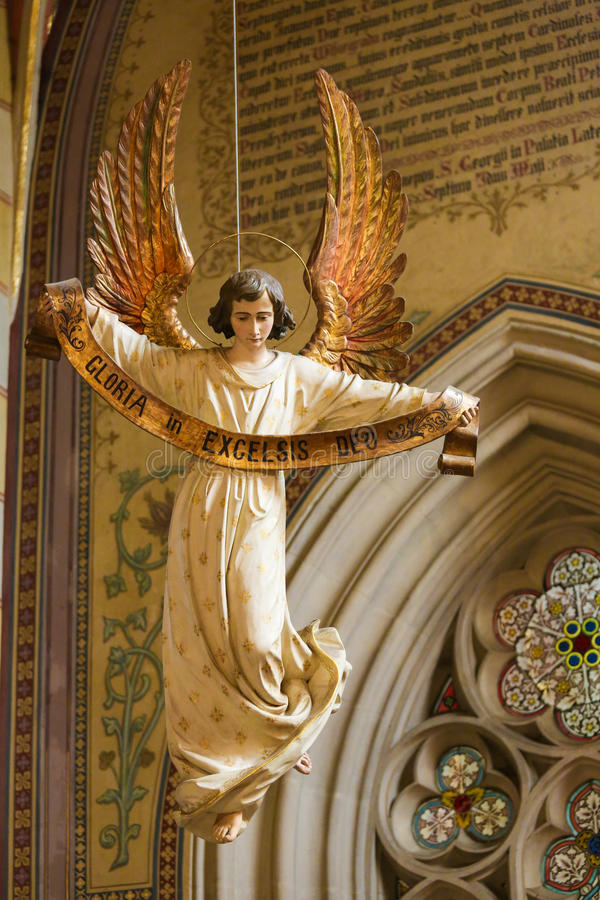 天使-格洛里亚在Excelsis Deo 免版税库存照片