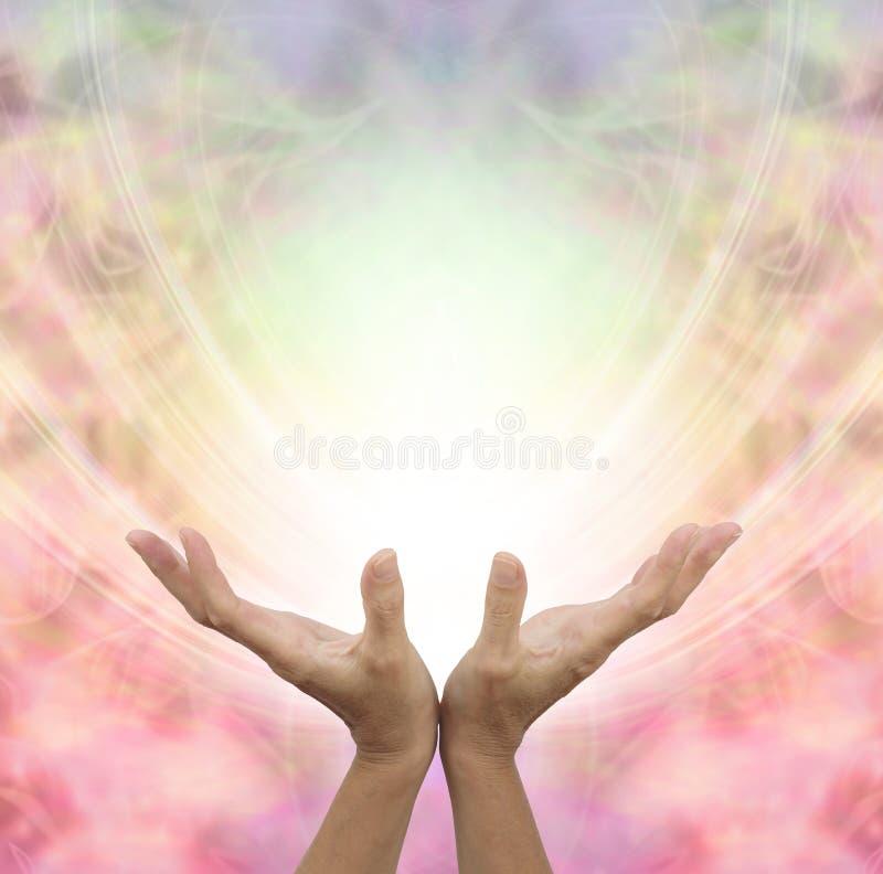 天使医治用的能量 库存例证
