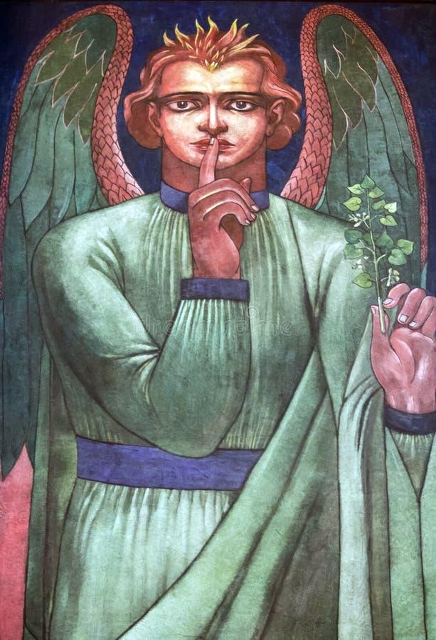 天使以绿色 免版税库存图片