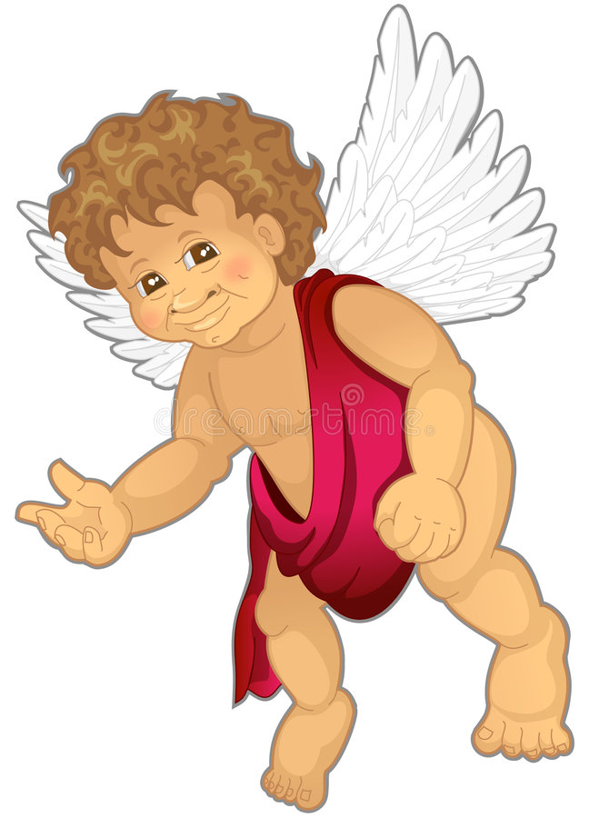 天使 库存例证