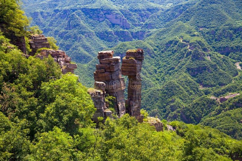 天使` s亲吻在戴眉山Geopark自然地形成了 库存照片