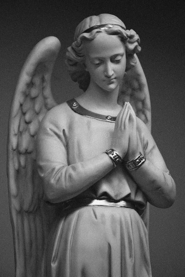 天使bw 免版税图库摄影
