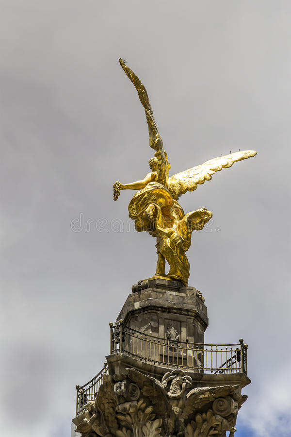 天使de la independencia 免版税图库摄影