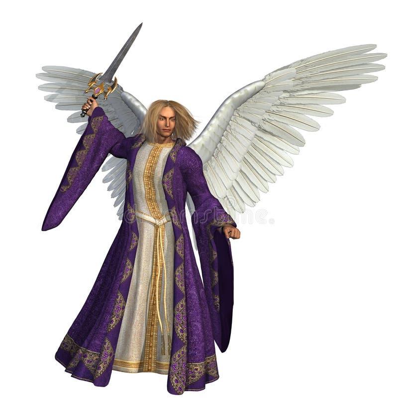 天使micheal 皇族释放例证