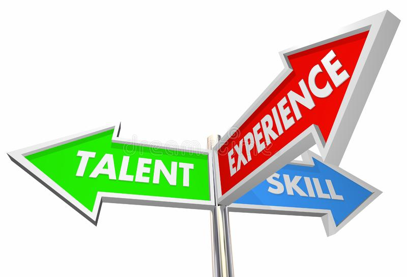 天分技巧经验3方式标志最佳的候选人3d Illustrati 向量例证
