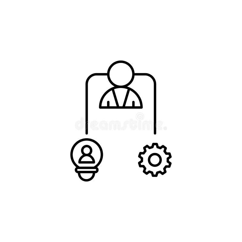天分管理才能想法象 企业刺激线象的元素 库存例证