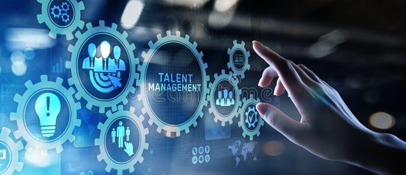 天分管理HR人力调配在虚屏上的对组织工作概念 免版税图库摄影