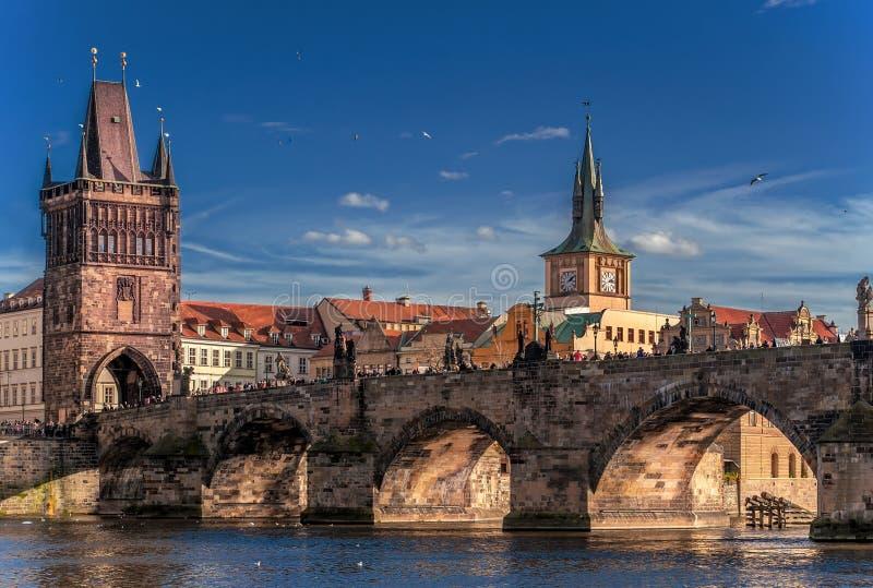 晴天在布拉格 免版税库存照片