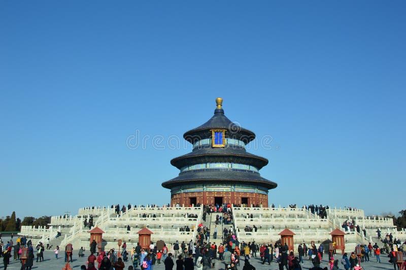天坛公园祷告大厅在北京 免版税库存照片