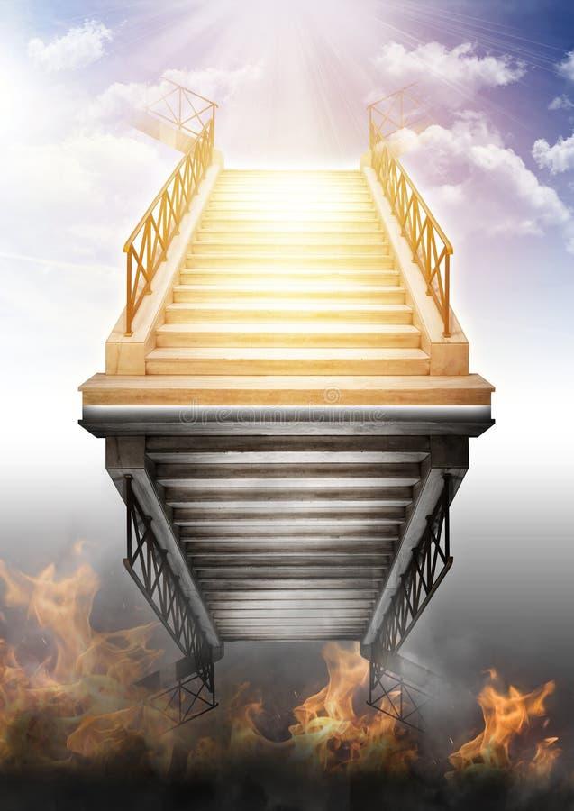 天堂和地狱 免版税库存图片