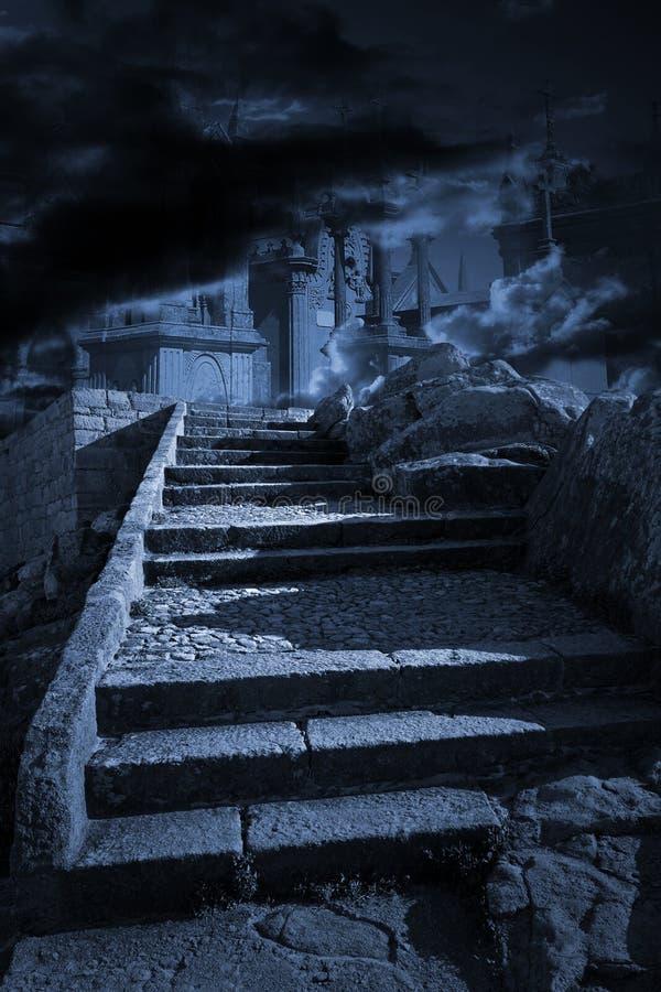 天堂地狱台阶 免版税库存图片