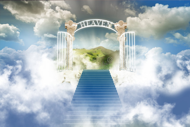 天堂天空 库存图片