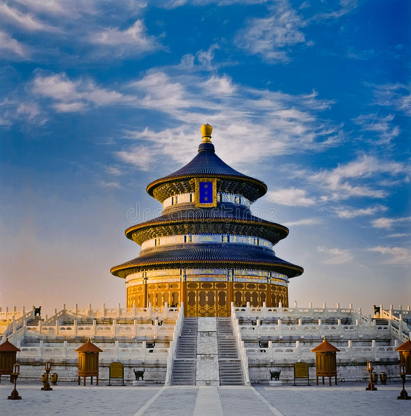 天堂寺庙 免版税图库摄影