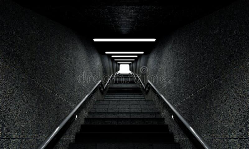 天堂楼梯 库存例证