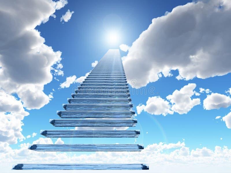 天堂楼梯 皇族释放例证