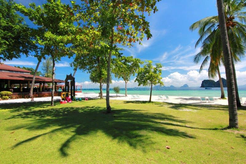 天堂海岛在董里府,泰国 库存照片