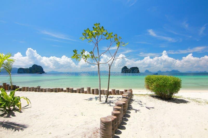 天堂海岛在董里府,泰国 免版税图库摄影