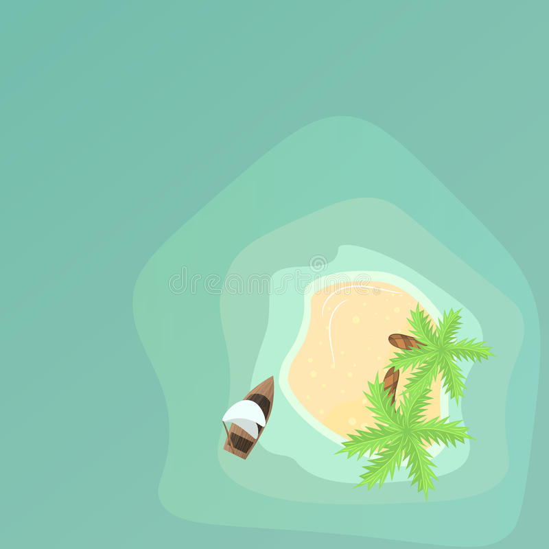 天堂海岛鸟瞰图 皇族释放例证