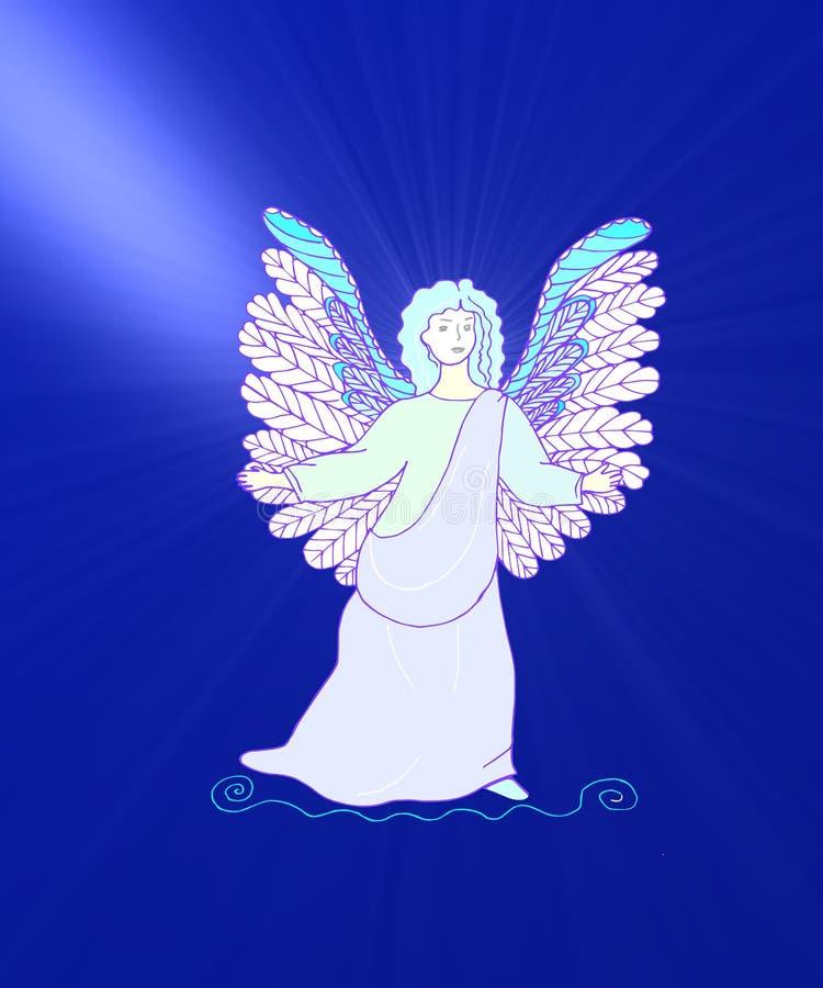 去天堂的天使 库存例证