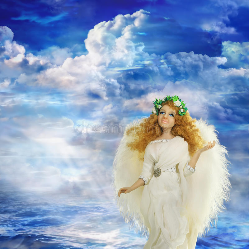 从天堂的天使 库存照片