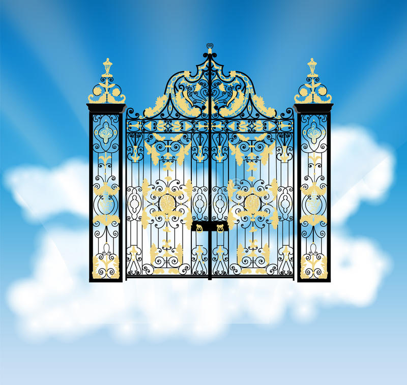 天堂的门 库存照片