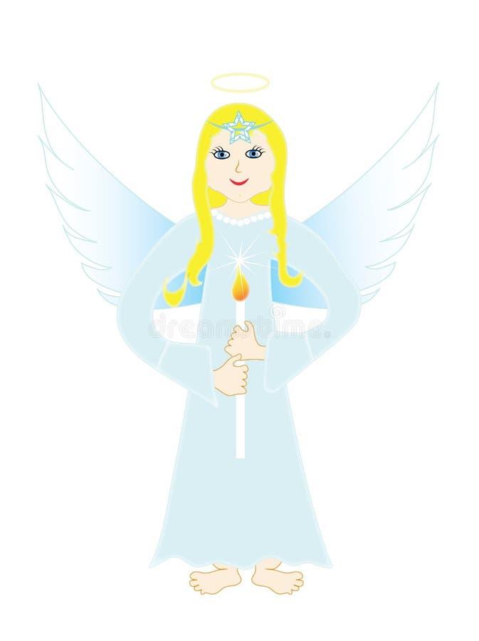 天堂般天使 皇族释放例证