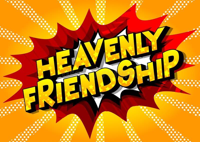 天堂般的友谊-漫画样式词组 库存例证