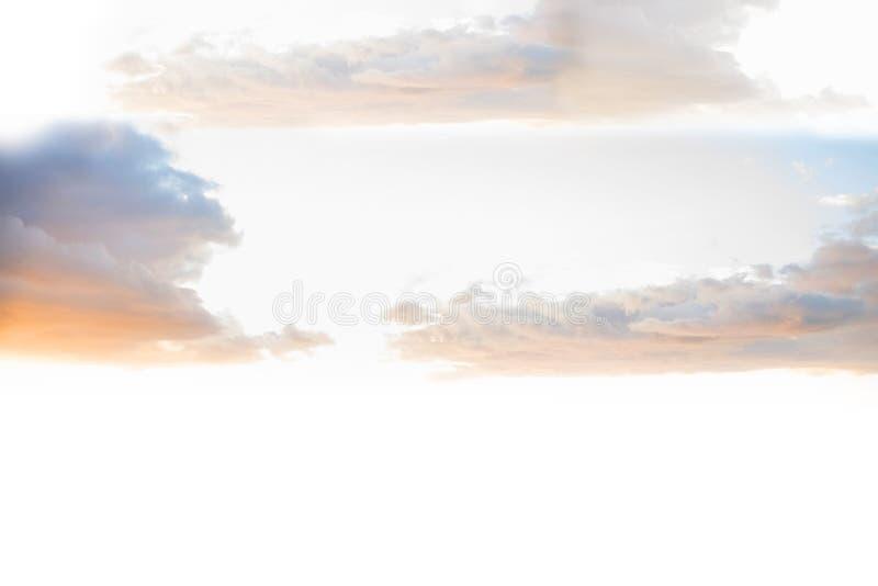 天堂般的天空 库存例证