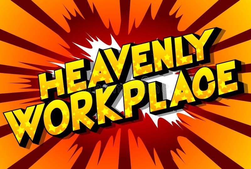 天堂般的工作场所-漫画样式词 向量例证