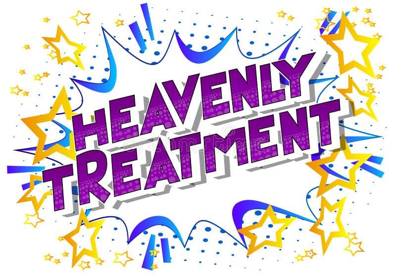 天堂般的治疗-漫画样式词 向量例证