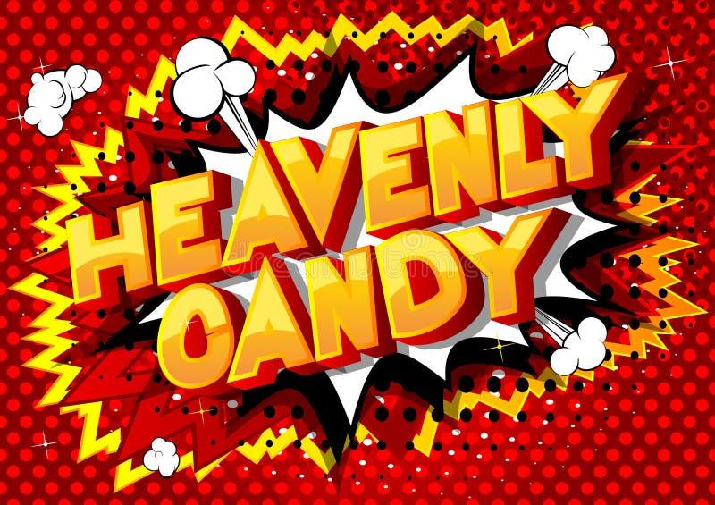 天堂般的糖果-漫画样式词 库存例证