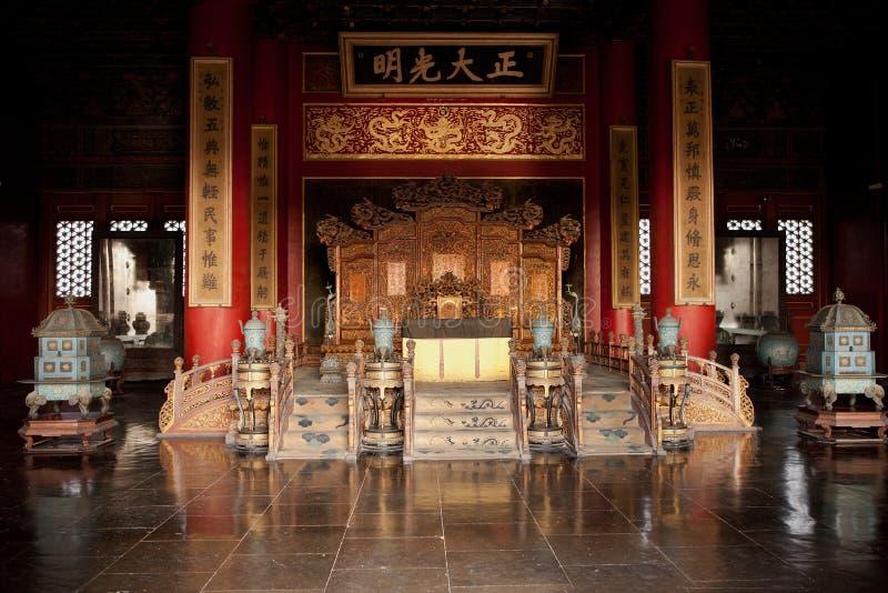 天堂般的纯度紫禁城宫殿  免版税库存图片