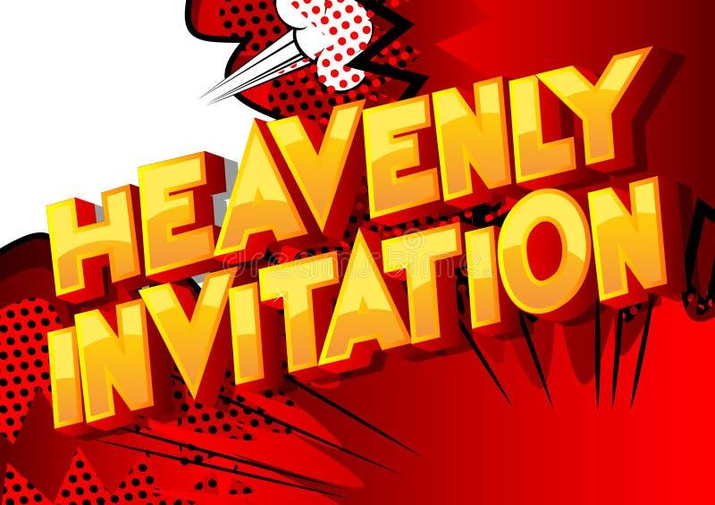 天堂般的邀请-漫画样式词 向量例证