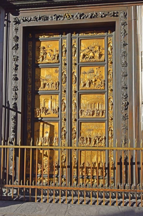 天堂门洛伦佐・吉贝尔蒂,佛罗伦萨 免版税库存照片
