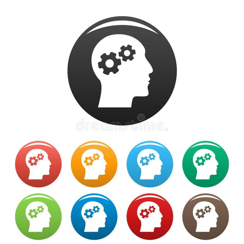 天才品牌脑子象集合颜色 向量例证