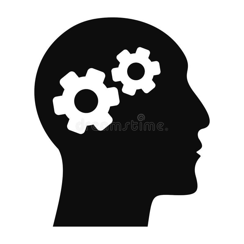 天才品牌脑子象,简单的样式 库存例证
