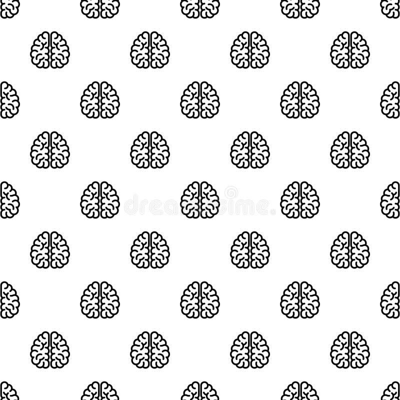 天才无缝脑子的样式 向量例证