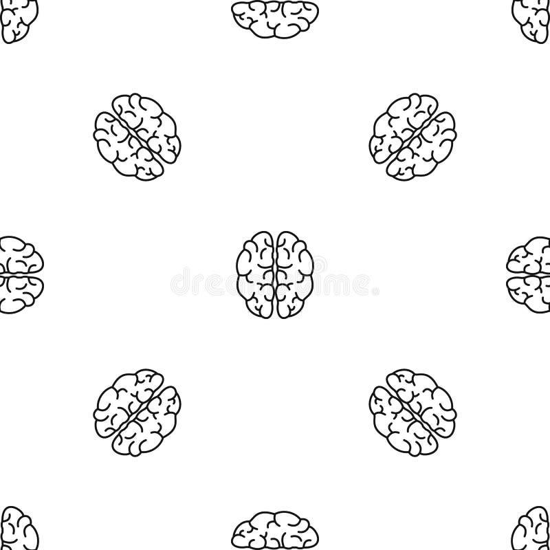 天才脑子样式无缝的传染媒介 库存例证
