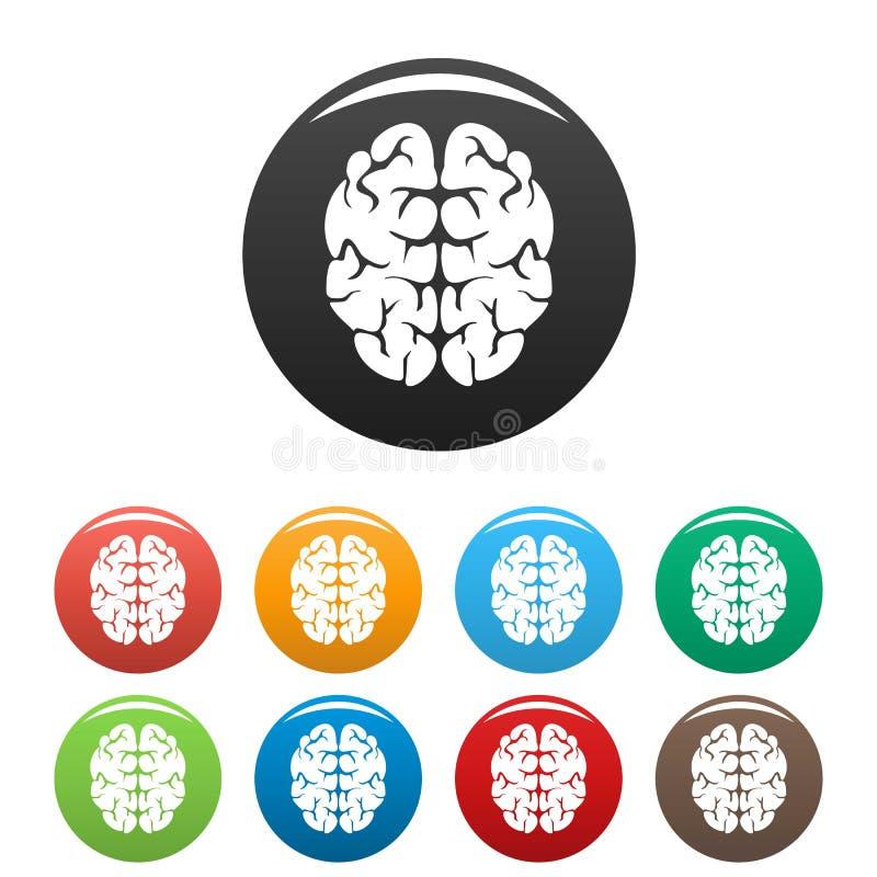 天才脑子象集合颜色 皇族释放例证