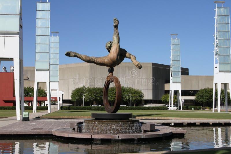 天才雕象在乔治亚国际性组织广场 库存照片