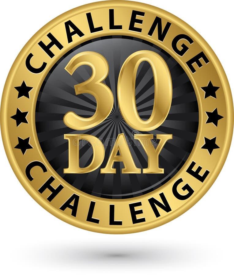 30天挑战金黄标签,传染媒介例证 皇族释放例证