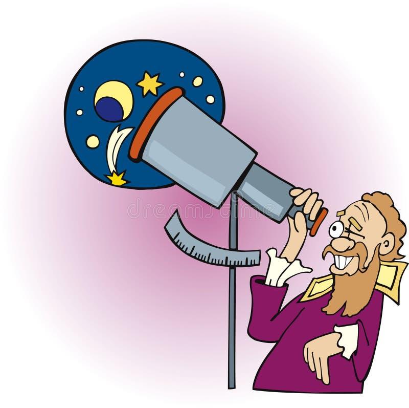 天文学家伽利略 库存例证
